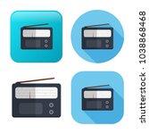 retro radio icon   media and... | Shutterstock .eps vector #1038868468