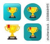 cup prize icon   winner icon  ... | Shutterstock .eps vector #1038868495