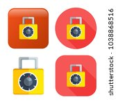 lock icon   vector padlock  ... | Shutterstock .eps vector #1038868516