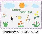 colorful fresh spring flower... | Shutterstock .eps vector #1038872065