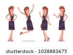 pretty female office employee... | Shutterstock .eps vector #1038883675