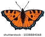 Tortoiseshell Butterfly Linocu...