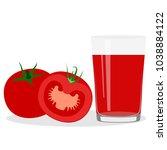 healthy lifestyle. freshly... | Shutterstock .eps vector #1038884122