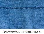 close up blue jeans denim...   Shutterstock . vector #1038884656