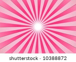The hot summer sun - pink background (vector, illustration) - stock vector