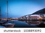 bergen at night wooden colored... | Shutterstock . vector #1038893092