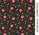 floral seamless pattern with... | Shutterstock .eps vector #1038894232