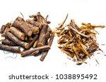 close up of ayurvedic herb... | Shutterstock . vector #1038895492