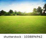 natural green grass field in... | Shutterstock . vector #1038896962
