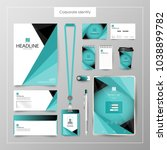 corporate identity template... | Shutterstock .eps vector #1038899782