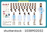 front  side  back view... | Shutterstock .eps vector #1038902032