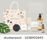 beautiful terrazzo pattern on... | Shutterstock .eps vector #1038902845