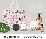 beautiful terrazzo pattern on... | Shutterstock .eps vector #1038902848