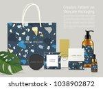 beautiful terrazzo pattern on... | Shutterstock .eps vector #1038902872
