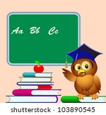 illustration owl points to...   Shutterstock . vector #103890545