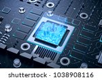 3d illustration of futuristic...   Shutterstock . vector #1038908116