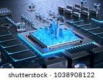 3d illustration of futuristic... | Shutterstock . vector #1038908122