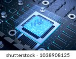 3d illustration of futuristic... | Shutterstock . vector #1038908125