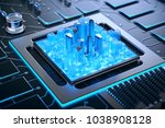 3d illustration of futuristic... | Shutterstock . vector #1038908128