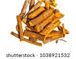 close up of ayurvedic herb... | Shutterstock . vector #1038921532