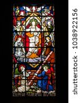 Small photo of DOVER, UK - JUN 2, 2013: Stained glass window of Garrison Church at medieval Dover Castle