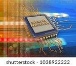3d illustration of electronic... | Shutterstock . vector #1038922222