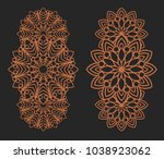 laser cutting set. wall panels. ... | Shutterstock .eps vector #1038923062