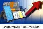 3d illustration of dollars... | Shutterstock . vector #1038931336