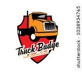 truck logo vector   Shutterstock .eps vector #1038934765
