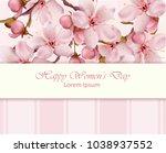cherry flowers branch happy... | Shutterstock .eps vector #1038937552