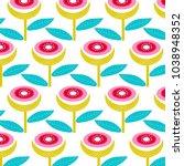 geometric shapes wallpaper.... | Shutterstock .eps vector #1038948352