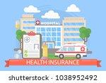 health insurance illustration.... | Shutterstock .eps vector #1038952492