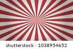 red rays background. sunburst... | Shutterstock .eps vector #1038954652