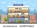 bus station building interior... | Shutterstock .eps vector #1038954862