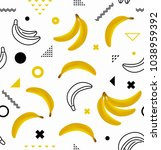 banana seamless vector...   Shutterstock .eps vector #1038959392