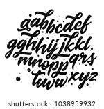 vector hand drawn alphabet... | Shutterstock .eps vector #1038959932