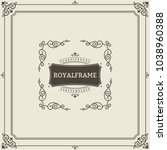 ornament design invitation... | Shutterstock .eps vector #1038960388