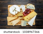 various types of cheese  ... | Shutterstock . vector #1038967366