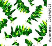eucalyptus leaves seamless...   Shutterstock . vector #1038969325
