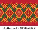 geometric ethnic pattern...   Shutterstock .eps vector #1038969475
