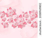 floral tender background with... | Shutterstock .eps vector #1038969802