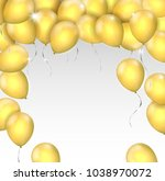 vector realistic shiny gold... | Shutterstock .eps vector #1038970072