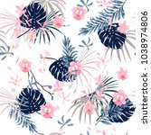 trendy bright summer sweet... | Shutterstock .eps vector #1038974806