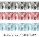 ruffles edge  fringe seamless... | Shutterstock .eps vector #1038975412
