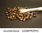 coffee bean close shot | Shutterstock . vector #1038990592