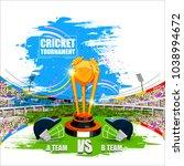 vector illustration of sports... | Shutterstock .eps vector #1038994672