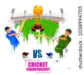 vector illustration of sports... | Shutterstock .eps vector #1038994705