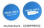 fresh milk stickers | Shutterstock .eps vector #1038998932