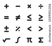 math symbols icon set | Shutterstock .eps vector #1039001206