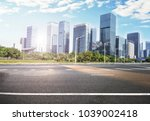 road in modern city | Shutterstock . vector #1039002418